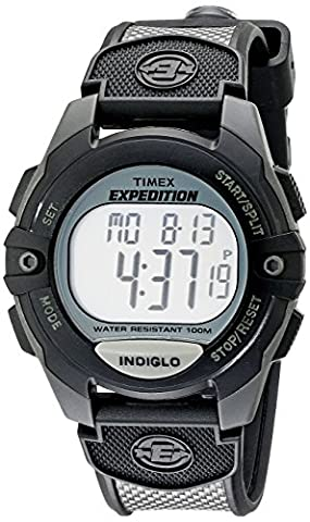 Timex Men's T40941 Expedition Full-Size Digital CAT Charcoal/Black Resin Strap Watch (Chrono Watch Sport)