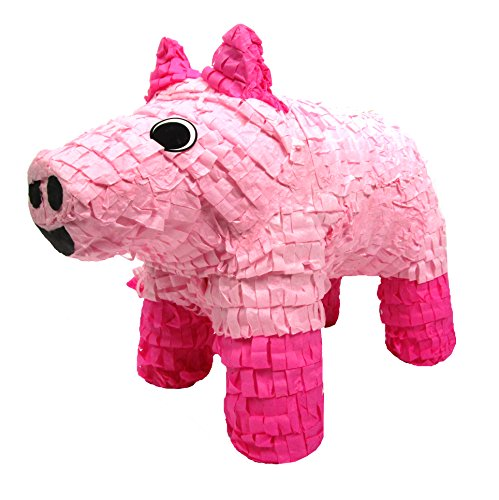 Pinatas Pig, Party Game, Decoration and Photo Prop for Farm Party Theme or Hawaiian Luaus, 20'' H by Pinatas