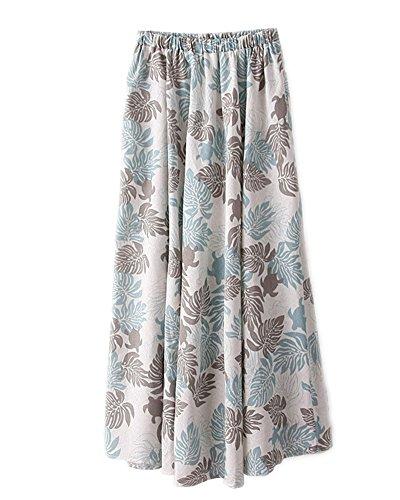 Kasen Femmes Bohmien Fleur Taille lastique Plage Maxi t Longue Jupe Comme Image 11