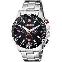 Wenger Men's 0643.101 Analog Display Swiss Quartz Silver Watch