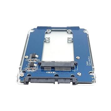 El adaptador de SSD mSATA Mini PCI-E a 2.5 SATA Hard Disk ...