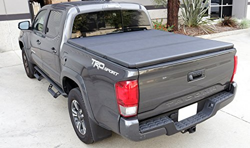 Tri-Fold Hard Tonneau Cover for Truck Bed for Toyota Tacoma Double Cab 5ft Bed 2005-2015