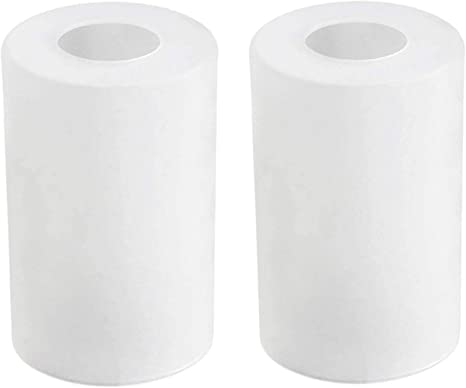 Lampshade Replacement Glass Shade Cylinder White Stripes ø3 8 CM High 9,5cm New