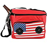 Gabba Goods American Flag Cooler w/Bluetooth Speaker - Holds Up To 24 Cans
