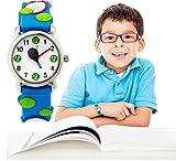 Kid Waterproof 3D Cute Tennis Ball Cartoon Silicone Quartz Watch for Little Girl Boy Child Gift Blue