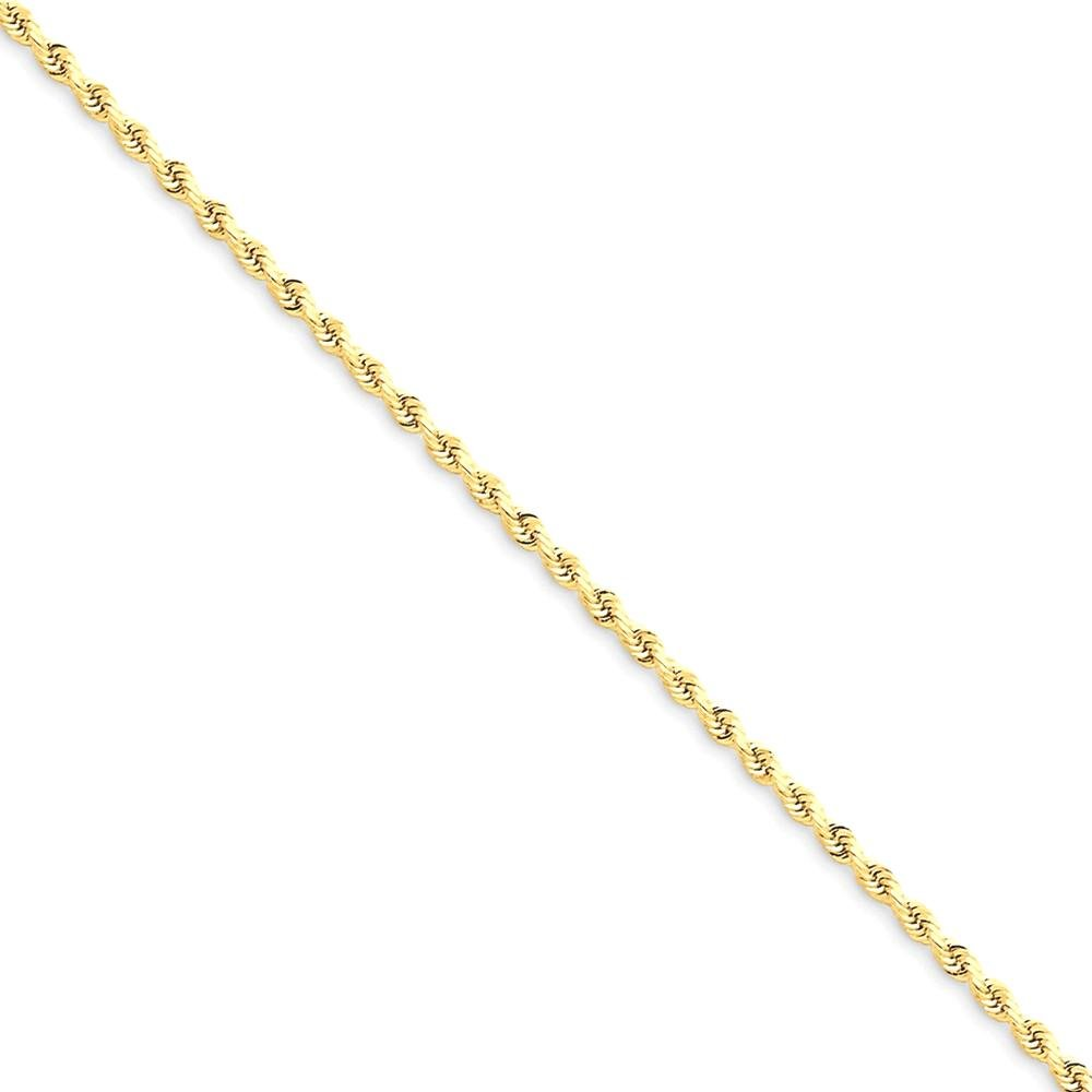 ICE CARATS 14k Yellow Gold 1.75mm Link Rope Chain Anklet Ankle Beach Bracelet Fine Jewelry Gift Set For Women Heart