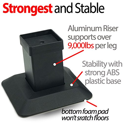 The 8 best bed risers for square legs