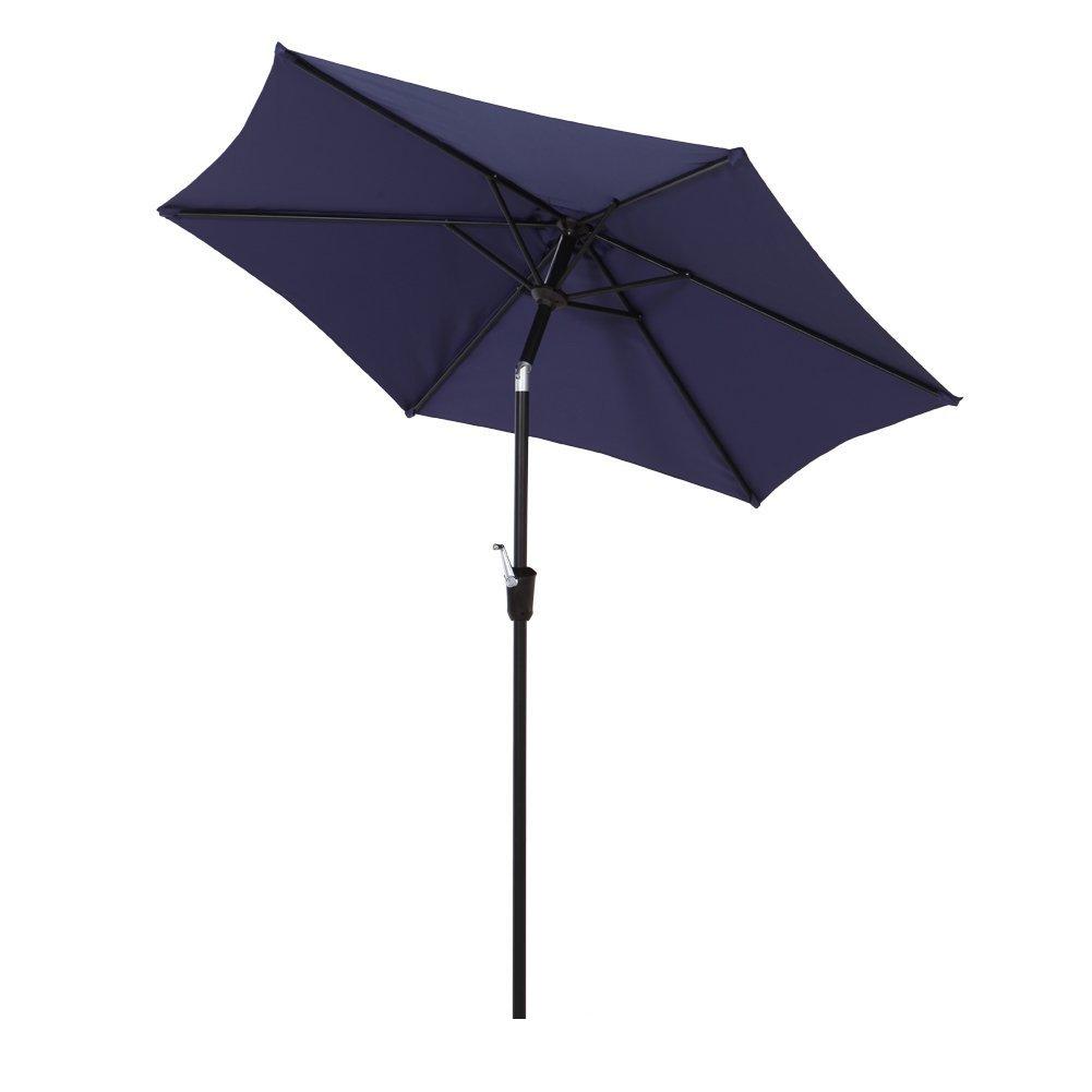 Grand patio 7.5 Aluminum Market Patio Umbrella, UV Protected Outdoor Umbrella, Blue