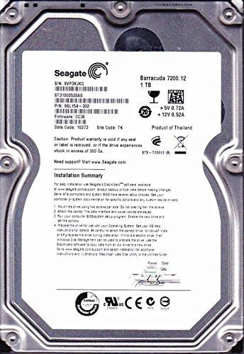 Seagate Barracuda ST31000528AS 1TB 7.2K RPM 3.5' SATA 3.0Gb/s HDD