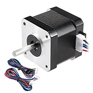 sourcing map Motor Paso A Paso Bipolar 42 23mm Longitud del Eje ...
