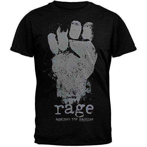 Rage Against Machine Merchandise - Old Glory Rage Against The Machine - Fist Soft T-Shirt - Small