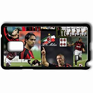 Personalized Samsung Note 4 Cell phone Case/Cover Skin Ac milan foreva a c Black hjbrhga1544