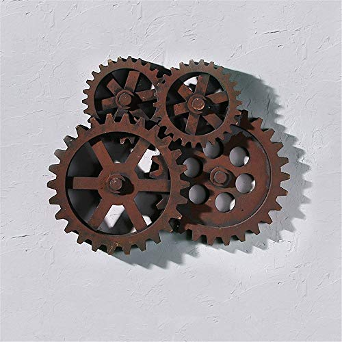 Mailbox Vintage Wooden Gear Shape Decorative Wall Art Wall Decoration Ornaments Wooden Crafts, Rural Rustic Industrial Style Wooden Crafts Outdoor Mailboxes Home Decoration