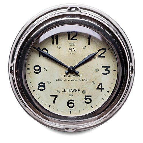 Pendulux Aluminum Deckhand Wall Clock - Wall Deck