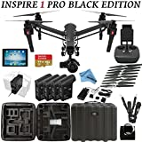 DJI Inspire 1 PRO Black Edition Bundle with Zemuse X5 4K Camera + Controller + iPad + 4 Batteries + Professional Case + 64GB Extreme MicroSD Card and more...