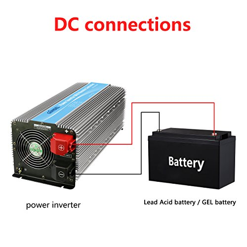 Power Inverter 12V to 110V with Remote Control and 4 AC USB Port for Truck Boat