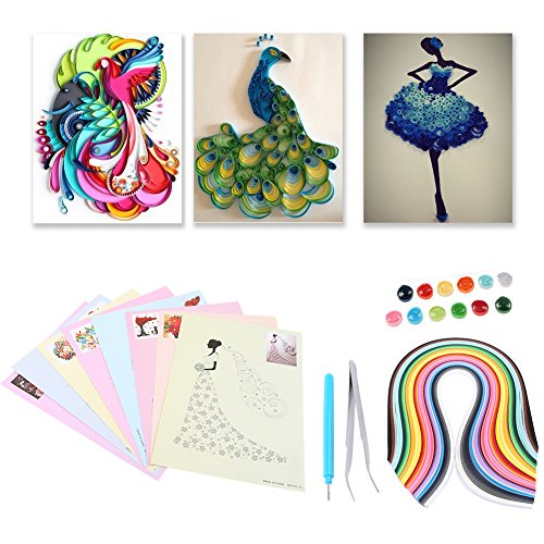 Lavenz 6 In 1 DIY Quilled Creation Paper Craft Paper Quilling Tools Set Scrapbooking Collection For Party Decoration by Lavenz