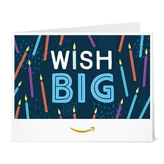 Amazon Gift Card - Print - Wish Big (B01FIS7308) | Amazon price tracker / tracking, Amazon price history charts, Amazon price watches, Amazon price drop alerts