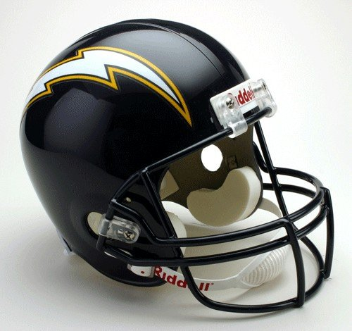 NFL San Diego Chargers Deluxe Replica Full Size Football Helmet (Navy - Blue Nfl Football Replica