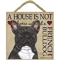 Hang it or Stand it on the easel.. Plaque House is not a Home Bulldog Gift