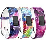 SKYLET Garmin Vivofit 3/Vivofit JR/Vivofit JR. 2 Bands, Silicone Replacement Bands for Garmin Vivofit 3/Vivofit JR/Vivofit JR. 2 Bracelet with Secure Watch Buckle (No Tracker)