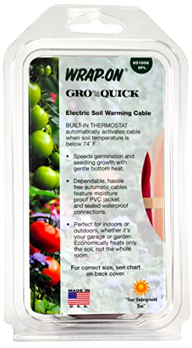 Wrap-On 51006 6' GRO-QUICK Soil Warming Cable 21 Watts 0.18 AMPS by Wrap-On
