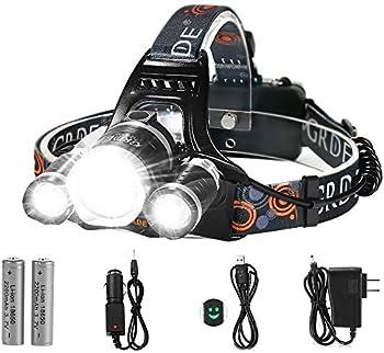 Totobay LED Headlamp 5000 Lumens 4 Modes Head Flashlight Light