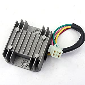 gy6 voltage regulator wiring diagram gy6 image amazon com wingsmoto rectifier regulator 4 wires voltage atv gy6 on gy6 voltage regulator wiring diagram