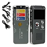 eBoTrade Digital Rechargeable Voice Recorder Dictaphone MP3 Player USB WAV + Microphone Speaker (8GB Memory)