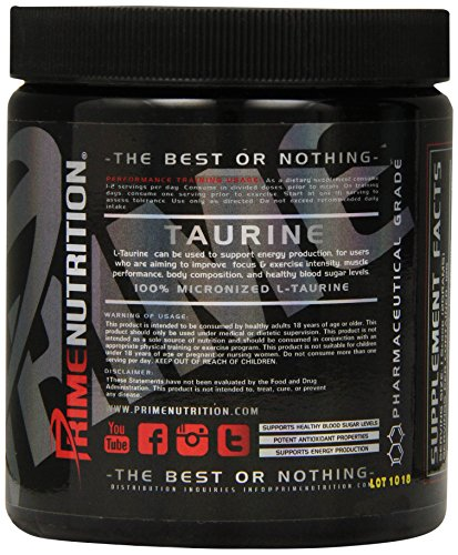 Prime Nutrition Taurine Supplement, 250 Gram