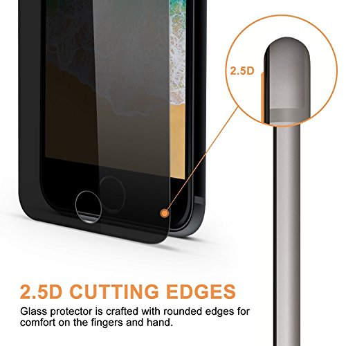 [2-Pack]Eastoan iPhone 8 Plus Tempered Glass Privacy Screen Protector [No bubbles][9H Hardness]For Apple iPhone 8 Plus and iphone 7 Plus Privacy by Eastoan (Image #2)