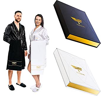 luxury spa gift set bathrobe towel slippers best christmas gift idea for him or. Black Bedroom Furniture Sets. Home Design Ideas
