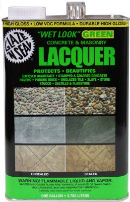 (Fine Crafts Imports Saltillo Mexican Floor Tile Sealer. Glaze N Seal Wet Look Green Lacquer Gal)