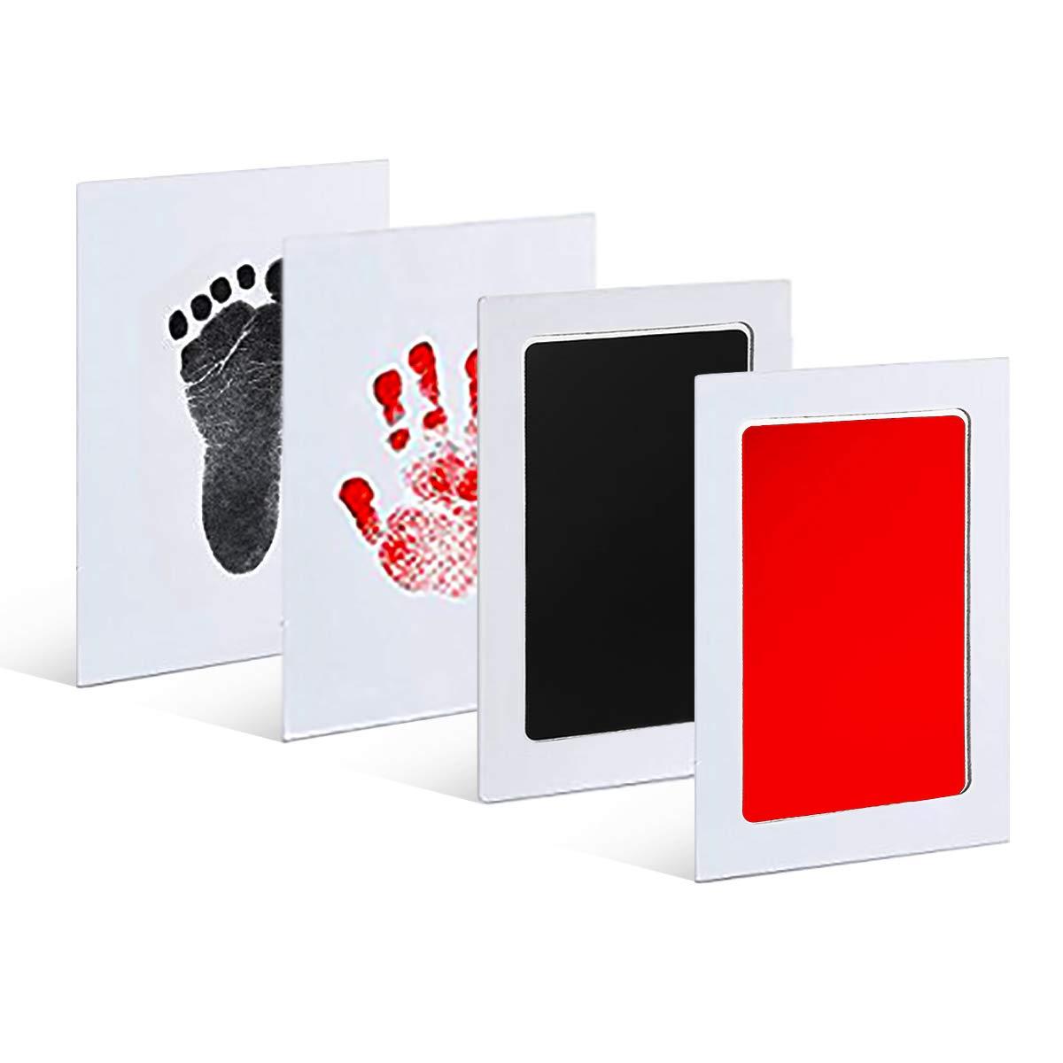 LQRLY Sauber und Sicher f/ür Registry Familien Andenken und Babyparty Geschenk 2 St/ück Baby Abdruck Set Ungiftig Baby Stempelkissen Baby Handabdruck und Fu/ßabdruck Set