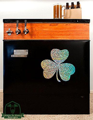 irish-lucky-shamrock20-kegerator-vinyl-decal-silver-metal-flake