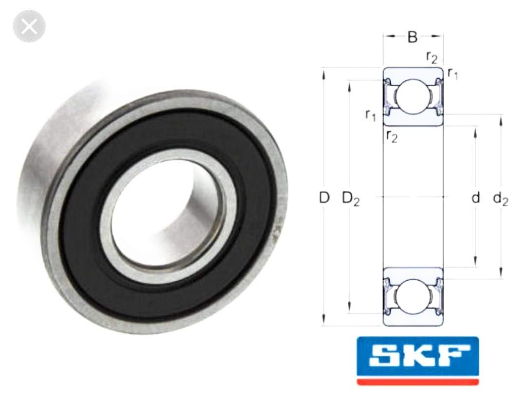 SKF 6212-2RS1 Deep Groove Ball Bearings 60x110x22 mm