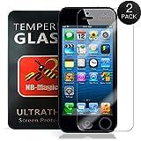 [2 Pack] iphone 5s Screen Protector,NB-Magic(TM) Tempered Glass Screen Protector Gorilla Glass for iphone 5s(0.1mm)