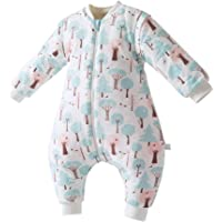 ALLAIBB Unisex Baby Winter Warm Romper Sleeping Bag Bunting Wearable Thick Blanket