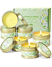 SCENTORINI Citronella Candles, Soy Wax Lemongrass Candles, Portable Travel Tin Citronella Scented Candle Gift Set for Outdoor Garden, Camping