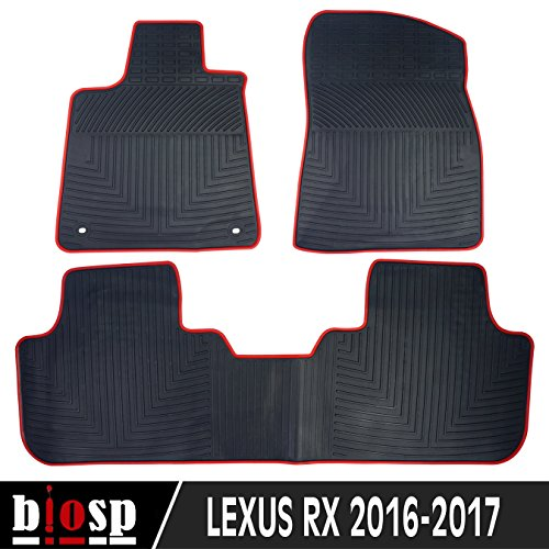 (biosp Fit 2016-2017 Lexus RX350 RX450 Runner Front and Rear Floor Mats Set Heavy Duty Rubber Car Carpet All Weather Floor Liners)