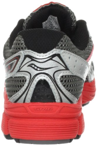 Saucony Boys Cohesion 6 Lace Running Shoe (Little Kid/Big Kid),Grey/Black/Red,1 M US Little Kid