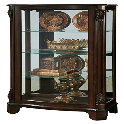 Bon Pulaski Mantel Curio, 33 By 15 By 56 Inch, Brown