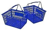 Blue Shopping Baskets (Set of 2)