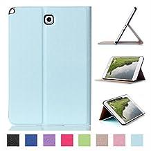 Samsung Galaxy Tab A 8inch Tablet Case,Samsung Galaxy T350 Case,PU Leather Case Slim Folding Cover for Samsung Tab A 8-inch Tablet Case -Light blue