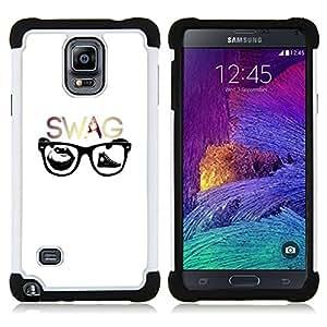 - Swag Hipster Glasses - - Doble capa caja de la armadura Defender FOR Samsung Galaxy Note 4 SM-N910 N910 RetroCandy