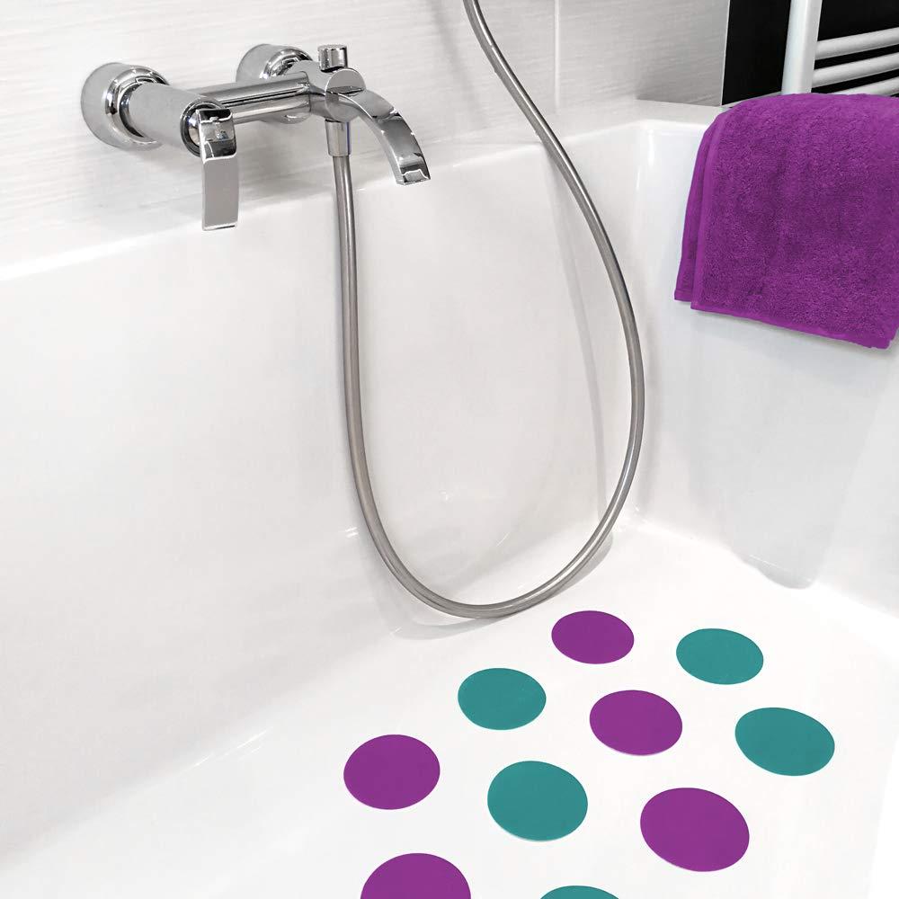 AnTina TAPES 10 Anti-Rutsch-Aufkleber pink /∅ 9 cm Rutschklasse C selbstklebend Pads f/ür Dusche /& Badewanne