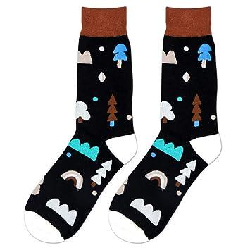 FHCGWZ 5pcs / Set Calcetines de los Hombres Calcetines de algodón de Estilo británico Creativo patrón