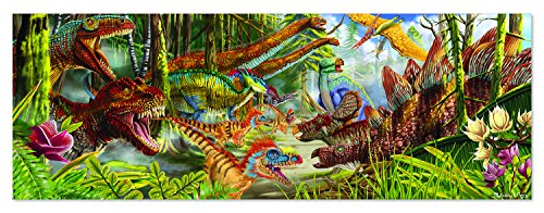 - Melissa & Doug Dinosaur World Floor Puzzle (Easy-Clean Surface, Promotes Hand-Eye Coordination, 200 Pieces, 50