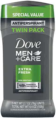 Dove Men+Care Antiperspirant Deodorant Stick, Extra Fresh, 2.7 oz (Pack of 2)