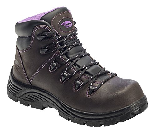 Avenger 6'' Women's Leather Comp Toe Waterproof Puncture Resistant EH Hiker Boot, Brown - 5 M by Avenger